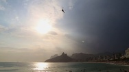 Ipanema beach Stock Footage