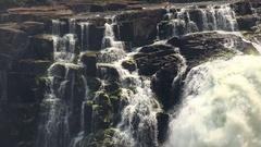 Victoria Falls (Zimbabwe, 4K footage) Stock Footage