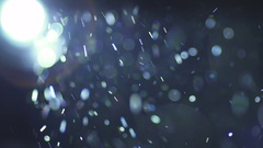 The bright projector illumination with dust particle flow. Slow motion Stock Footage