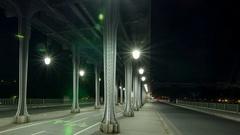 Paris. Bir Hakeim bridge over river Seine Stock Footage