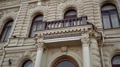 Wedding palace in Saint-Petersburg on English embankment Stock Footage