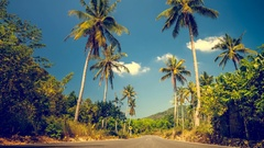 Exotic travel background Stock Footage