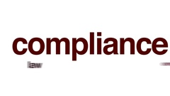 Compliance animated word cloud. Stock Footage
