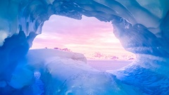 Blue ice cave Stock Footage