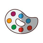 Paint palette art Stock Illustration