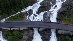 Norway. The picturesque waterfall Stock Footage