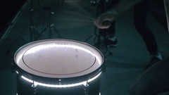 Close-up of playing on drums at nightclub Stock Footage