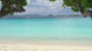 Video of tropical beach, Scott Beach, Caneel Bay, St John Stock Footage