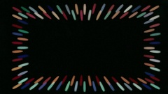 Frame for design from flickering strips Stock Footage