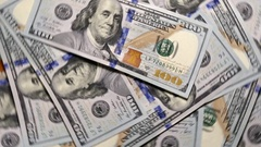 Dollars Banknotes Rotate. Stock Footage