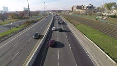 Timelapse of vehicles at Gardiner Expressway in Toronto, Canada Stock Footage