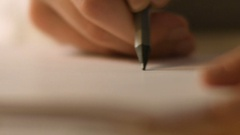 A straight line with a pencil Stock Footage