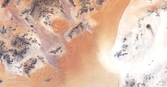 High-altitude overflight aerial of the Karas Region of the Namib desert.. Stock Footage