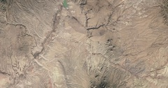 High-altitude overflight aerial of the North half of Santa Fe County, NM. Stock Footage