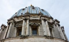 The famous dome of St Peters Basilica in Rome -The Vatican in Rome Stock Photos