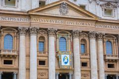 St Peters Square at Vatican City in Rome Stock Photos