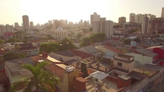 SAO PAULO fly over DAYTIME SUNSET ESTABLISHING/B-roll Stock Footage