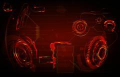 Future Interface. Digital elements Stock Illustration