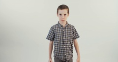 Boy upset and angry Stock Footage