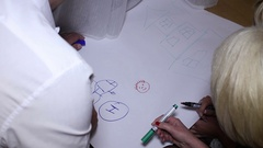 Creation of the command pattern on Whatman paper Stock Footage