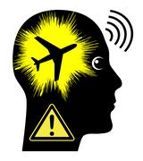Noise Pollution by Aircrafts Stock Illustration