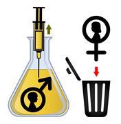 In Vitro Gender Selection Stock Illustration