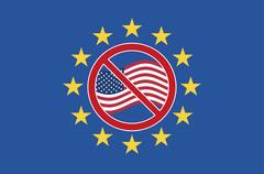 TTIP Protest Sign Stock Illustration