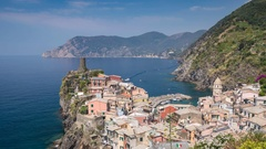 Timelapse at Vernazza Village, Italy, Italy Riviera 4K Time lapse Stock Footage