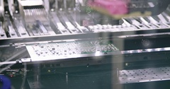 SMT manufacturing line Stock Footage