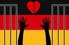 Sympathy for Refugees gone Stock Illustration