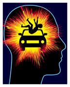 Car Accident Trauma Stock Illustration