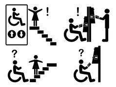 Discrimination versus Inclusion Stock Illustration