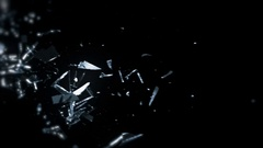 Shattering Glass Flying In 3D - 81 Stock Footage