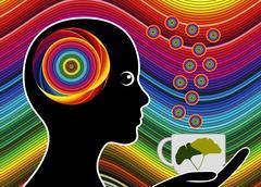 Energizing Tea Brake Stock Illustration