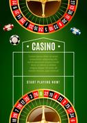 Casino Classic Roulette Game Advertisement Poster Piirros