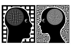Men and Women see the world differently Stock Illustration