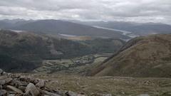 Ben nevis mountain scotland grass valley rocks Stock Footage