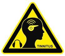 Caution Tinnitus Stock Illustration