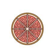 Delicious grapefruit fruit isolated icon Stock Illustration