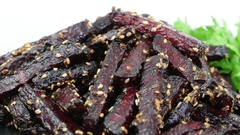 Healthy homemade roasted beetroot ready to eat , close up. Rotates roasted beet Stock Footage