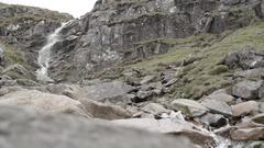 Ben nevis mountain scotland river waterfall slow mo Stock Footage