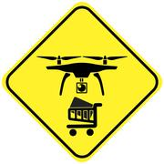 Beware the Delivery Drone Stock Illustration