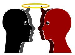 Angel versus Devil Stock Illustration