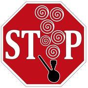 Stop Smoking Pot Stock Illustration