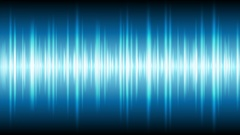 Blue glowing tech waveform equalizer video animation Stock Footage