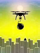 Terrorists Threats from Drones Piirros
