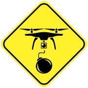 Beware the Terrorist Drones Stock Illustration