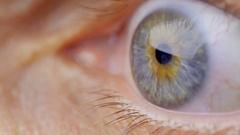 Human eye. Close up. Stock Footage