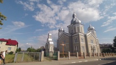 Orthodox Cathedral church Timelapse Stock Footage