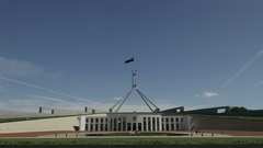 Canberra Parliament house Australia Stock Footage